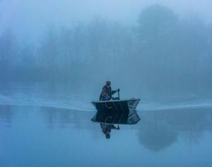 Fishman in the Fog