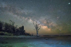 Milky Way At Low Tide